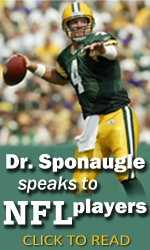 Dr. Sponaugle speaks to NFL players
